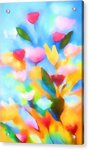 Swinging Flowers Acrylic Print