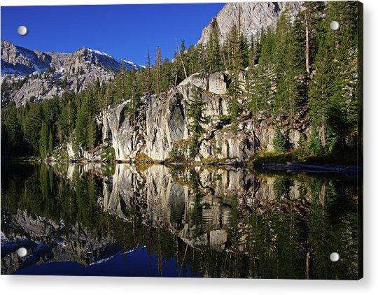 T J Lake Reflections Acrylic Print