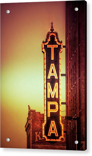 Acrylic Print featuring the photograph Tampa Theatre by Carolyn Marshall