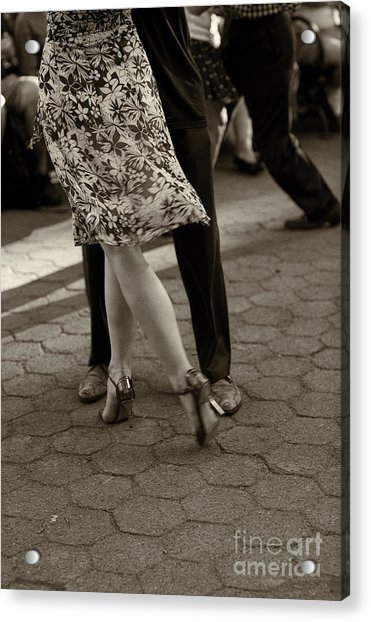 Tango In The Park Acrylic Print
