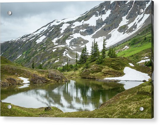 Acrylic Print featuring the photograph Tarns Of Nagoon 209 by Tim Newton