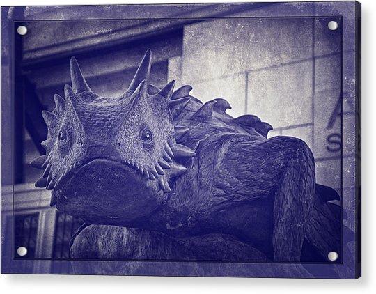 Tcu Horned Frog Purple Acrylic Print