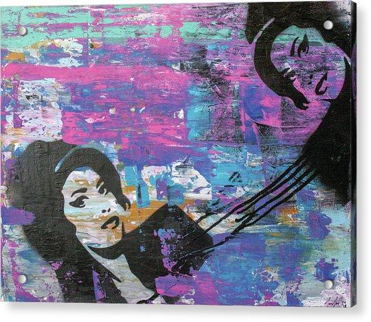 Tears Dry On Thier Own Acrylic Print