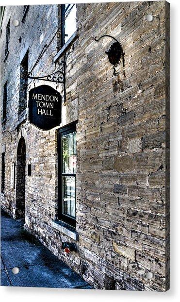 Mendon Town Hall Acrylic Print