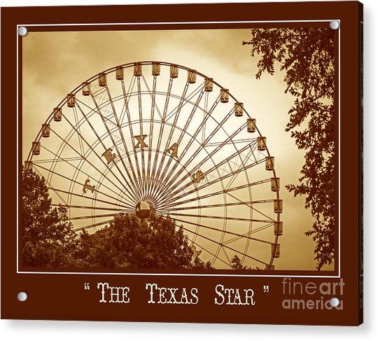 Texas Star In Gold Acrylic Print