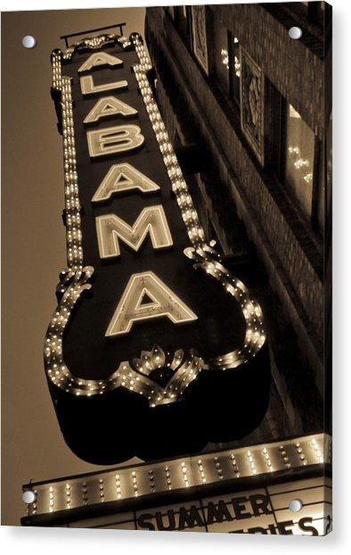 The Alabama Acrylic Print