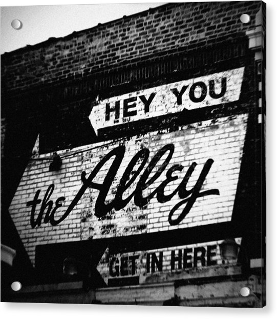 The Alley Chicago Acrylic Print