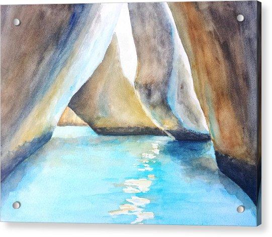 The Baths Water Cave Path Acrylic Print