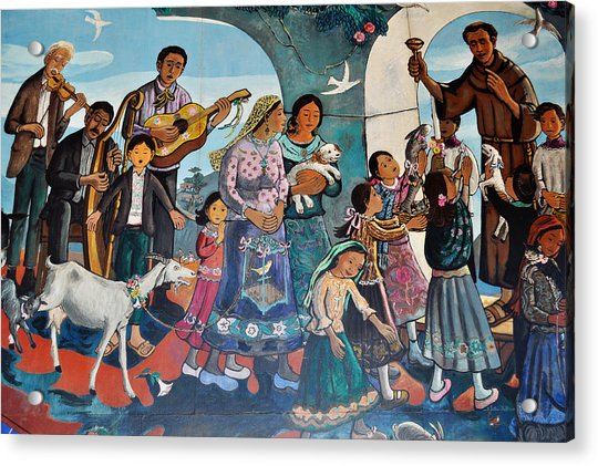 The Blessing Of Animals Olvera Street Acrylic Print