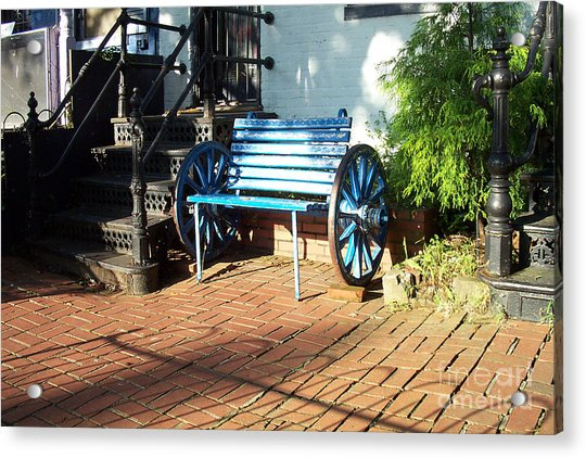 The Blue Bench Acrylic Print