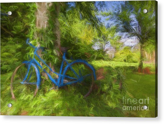 The Blue Bicycle Acrylic Print