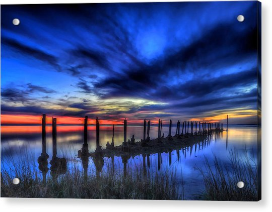 The Blue Hour Comes To St. Marks #1 Acrylic Print