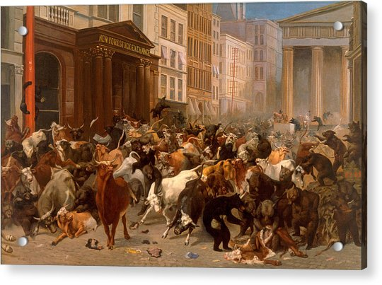 The Bulls And Bears In The Market Acrylic Print