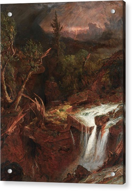 The Clove - A Storm Scene In The Catskill Mountains Acrylic Print
