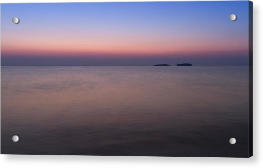 Dawn At The Mediterranean Sea Acrylic Print