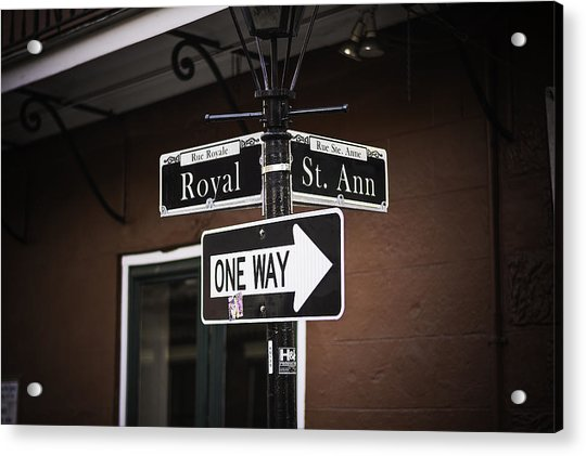 The Corner Of Royal And St. Ann, New Orleans, Louisiana Acrylic Print