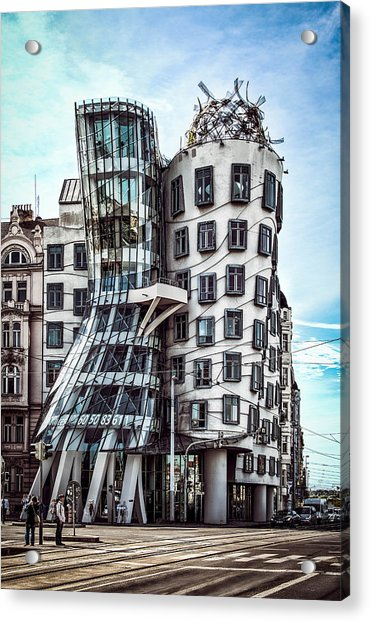 Acrylic Print featuring the photograph The Dancing House by Kevin McClish