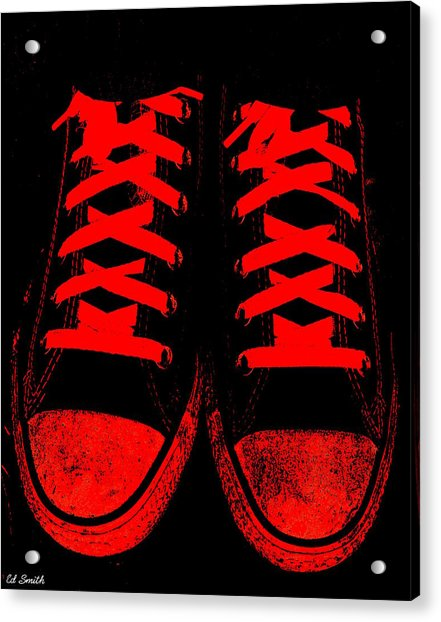 The Devil Wears Converse Acrylic Print