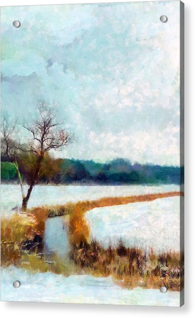 Acrylic Print featuring the painting The Dyke by Valerie Anne Kelly
