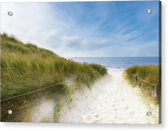 The First Look At The Sea Acrylic Print