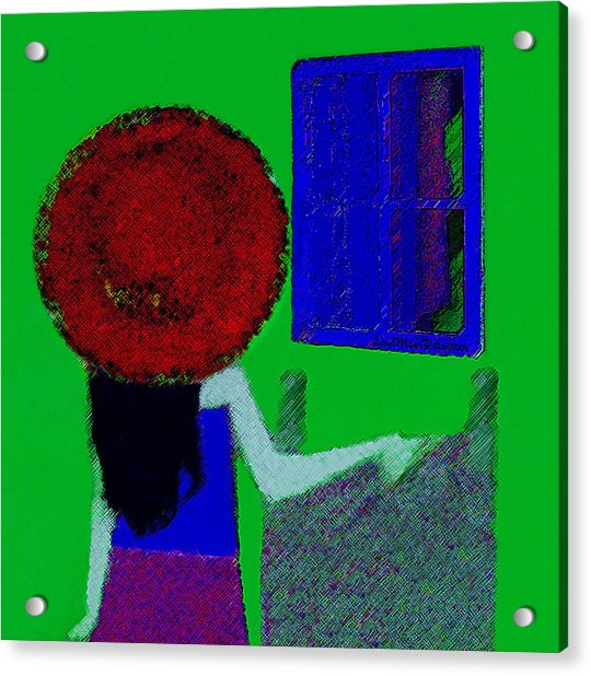 The Girl In The Mirror Acrylic Print