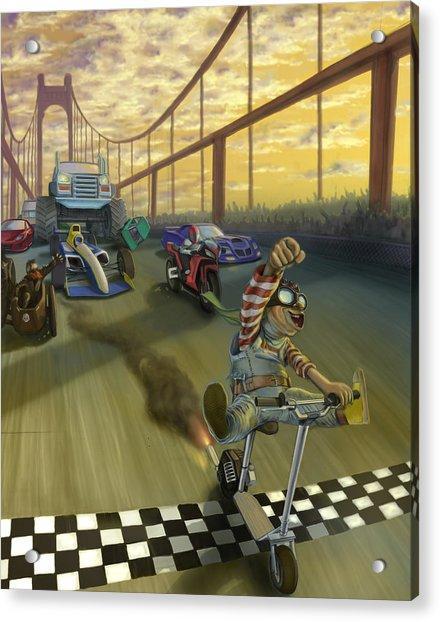 The Great Race Acrylic Print by Nicholas Bockelman
