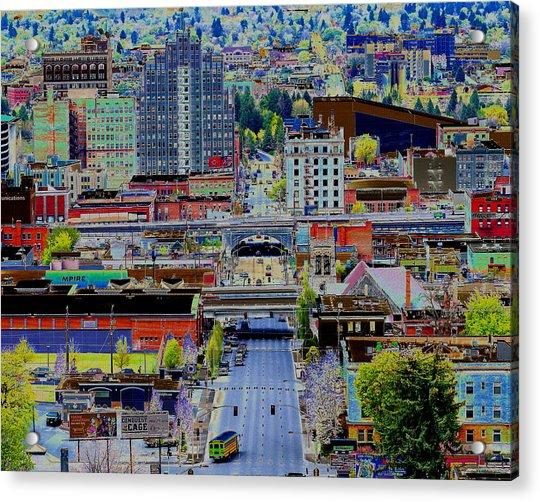 The Heart Of Downtown Spokane  Acrylic Print