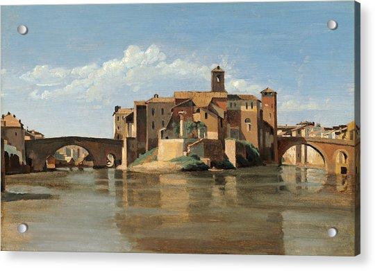 The Island And Bridge Of San Bartolomeo Acrylic Print
