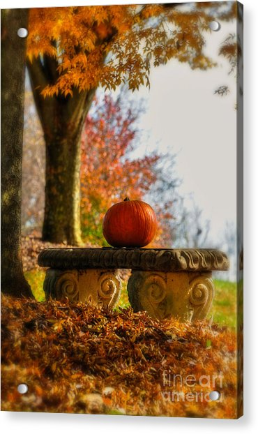 The Last Pumpkin Acrylic Print
