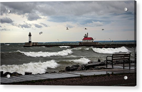 The Lights In The Storm Acrylic Print by David Wynia