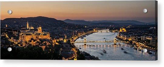 The Lights Of Budapest Acrylic Print