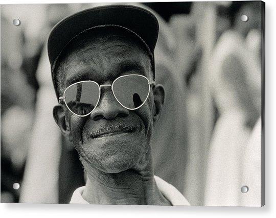 The March On Washington  A Smiling Man At Washington Monument Grounds Acrylic Print