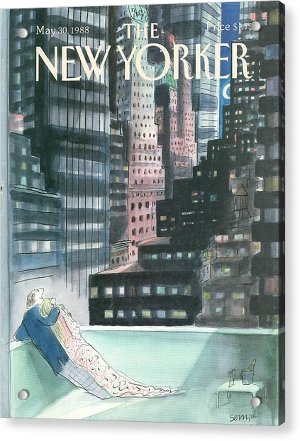 The New Yorker Cover - May 30th, 1988 Acrylic Print