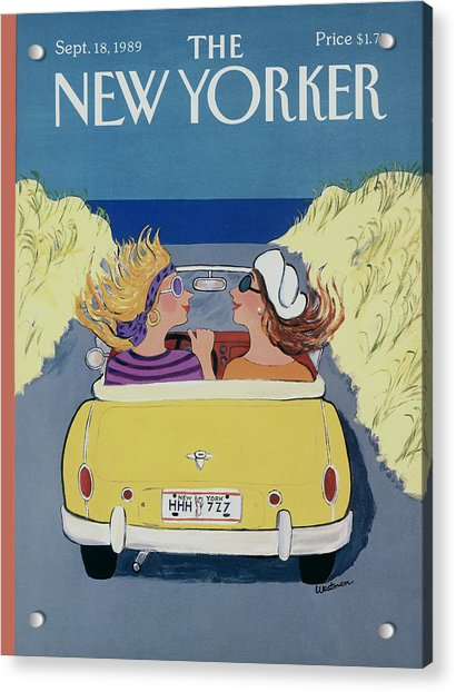 The New Yorker Cover - September 18th, 1989 Acrylic Print