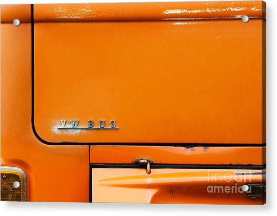 The Old Orange Bus Acrylic Print