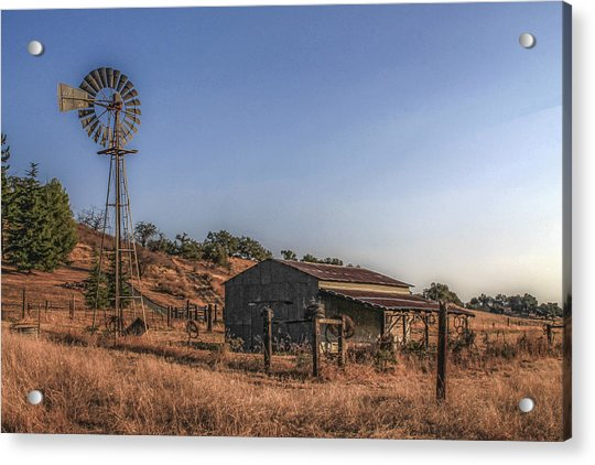 Acrylic Print featuring the photograph The Old Windmill by Break The Silhouette