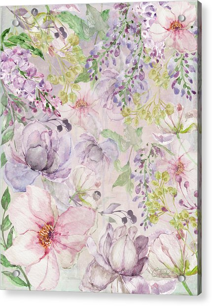 The Pastel Garden Acrylic Print