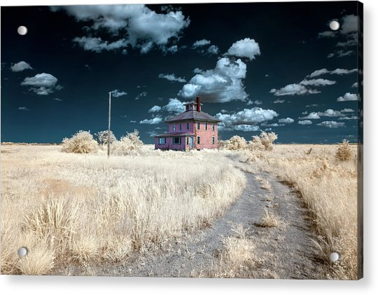 The Pink House In Halespectrum 1 Acrylic Print