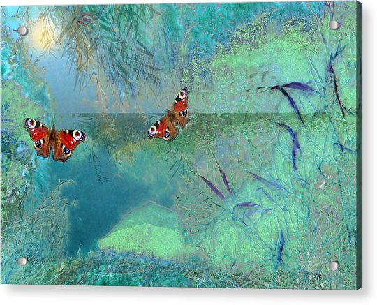 Acrylic Print featuring the painting The Pond by Valerie Anne Kelly