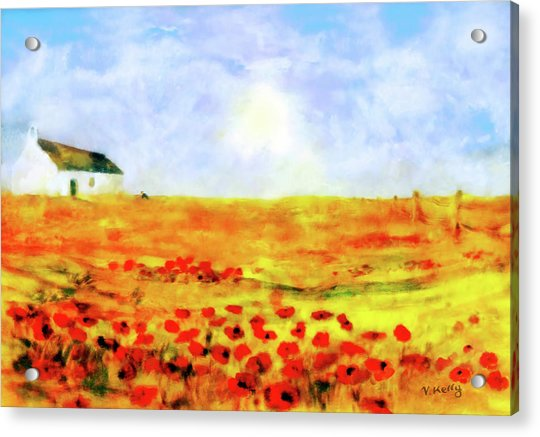 Acrylic Print featuring the painting The Poppy Picker by Valerie Anne Kelly