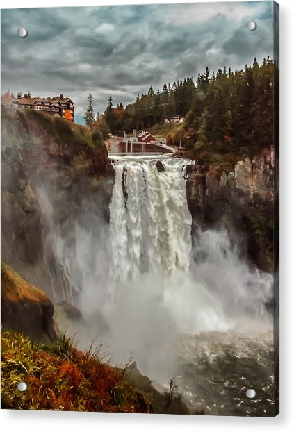 Acrylic Print featuring the photograph The Powerful Snoqualmie Falls by Kevin McClish