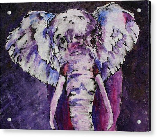 The Purple Bull Acrylic Print
