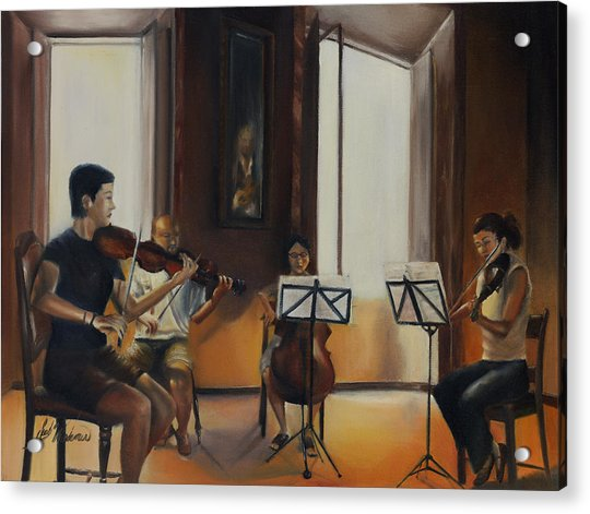 The Rehearsal Acrylic Print by Leah Wiedemer
