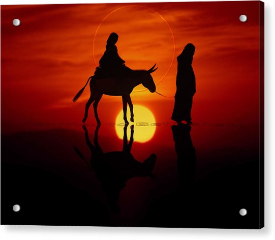 Acrylic Print featuring the painting The Road To Bethlehem by Valerie Anne Kelly