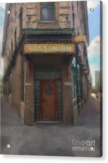 Acrylic Print featuring the digital art The Rossonian by Dwayne Glapion