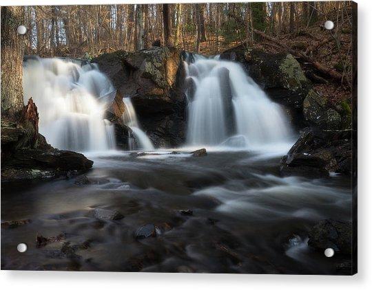 The Secret Waterfall In Golden Light Acrylic Print