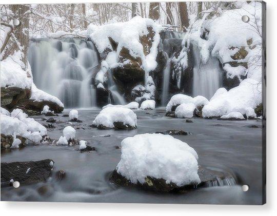 The Secret Waterfall In Winter 1 Acrylic Print