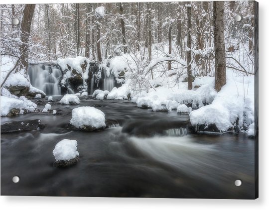 The Secret Waterfall In Winter 2 Acrylic Print