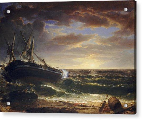 The Stranded Ship Acrylic Print