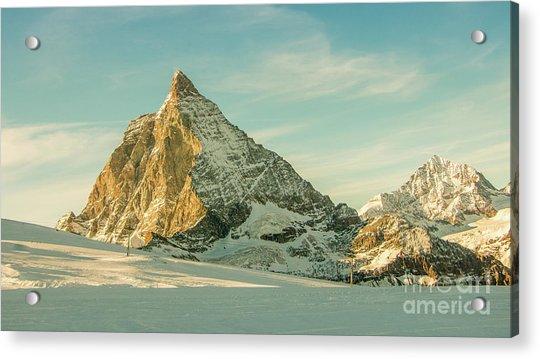 The Sun Sets Over The Matterhorn Acrylic Print